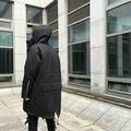Mais novo Colar da Pele Dos Homens Jaquetas Casacos de Kanye West Yeezus Marca grossas de Inverno Quente Bombardeiro Ma1 M51 de Peixe longo de algodão acolchoado casaco