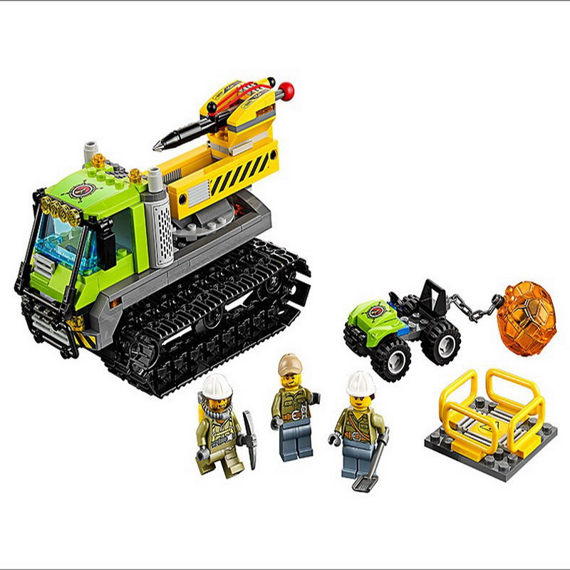 10639 BELA City Explorers Volcano Crawler Model Building Blocks Classic Enlighten DIY Figure Toys For Children Compatible Legoe 10639 bela city explorers volcano crawler model building blocks classic enlighten diy figure toys for children compatible legoe