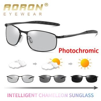 702ee18fdb AORON fotocromáticos gafas de sol para hombres, gafas de Uv400 de alta  calidad gafas de conducción de los hombres decoloración gafas de sol gafas  Accesorios