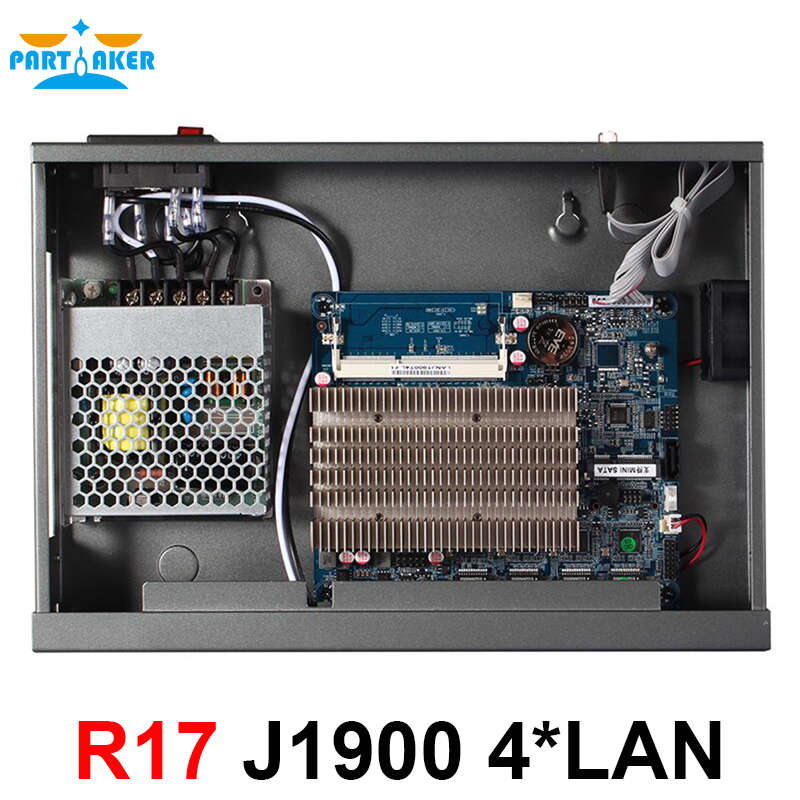 Teilhaftig R17 Intel PCI-E 1000M 4*82583v Firewall Netzwerk Server mit Intel Celeron J1900 Quad Core Prozessor