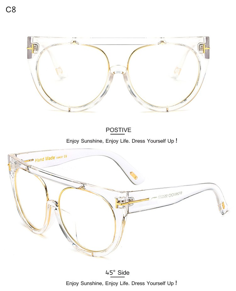 DRESSUUP Vintage Große Sonnenbrille Frauen Markendesigner Mode Frau ...