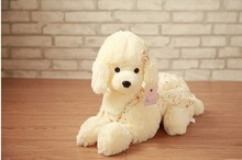 small cute poodle plush toy lovely new  flower cloth poodle dog doll gift about 40cm