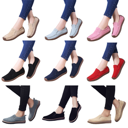 EOFK Spring Autumn Women Moccasins Women's Flats Genuine leather Shoes Woman Lady Loafers Slip On Suede Shoes mocasines mujer 4