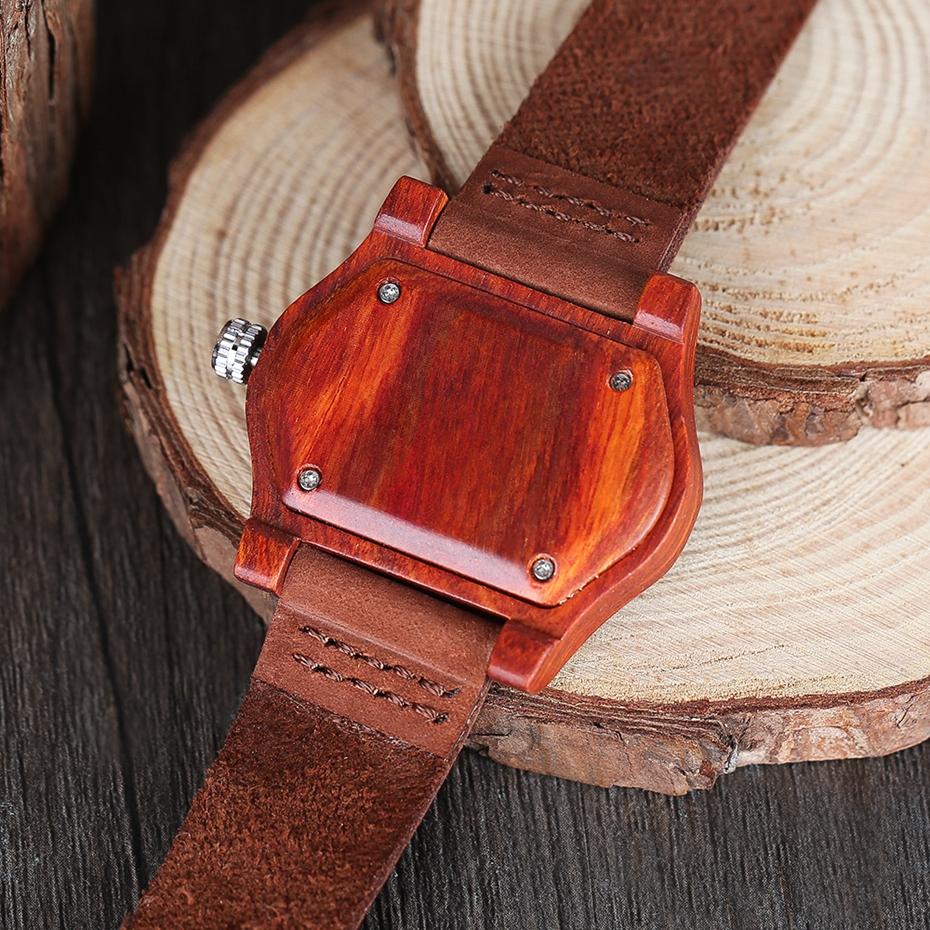 2017 Retro Red Wood Watch Creative Eyes Design Unique Men Women Natural Wooden Quartz-watch Genuine Leather Handmade Unisex Christmas Gifts (12)