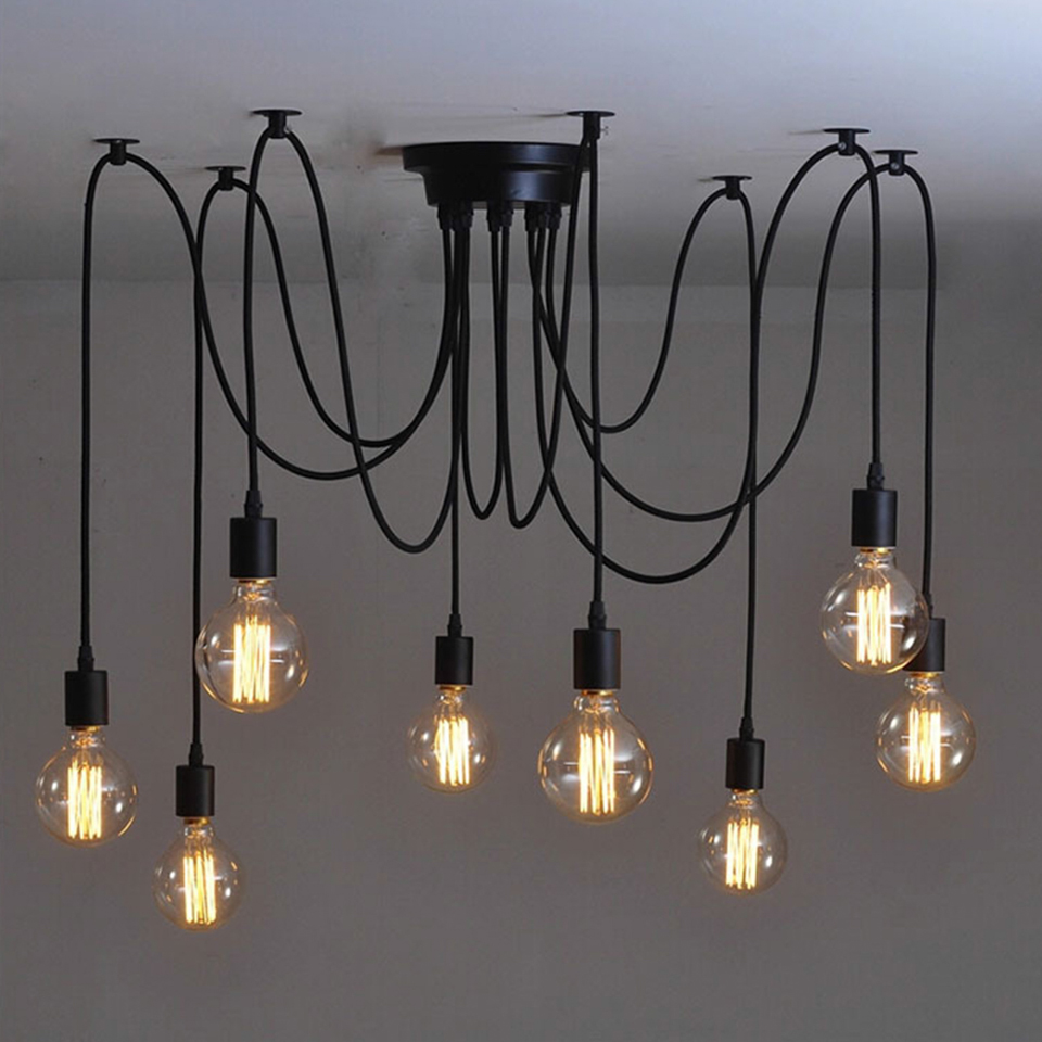 8 daglige lys justerbare amerikanske land industrielle lager vintage - Indendørs belysning
