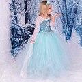 Navidad Frozene Vestidos Elsa Traje de Suministros Fiesta de Cumpleaños Del Vestido de Regalos Girl Snow Queen Princesa Sofia Roupas Infantis Menina