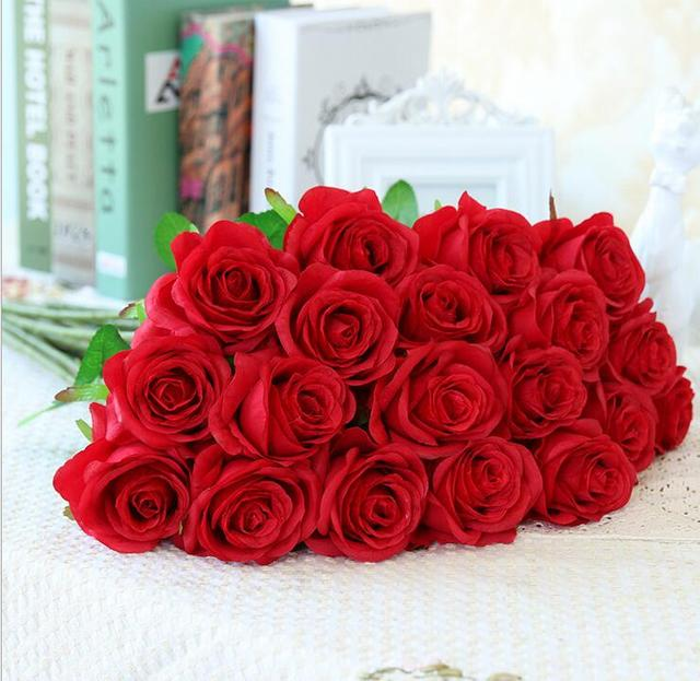 Artificial Rose Silk Craft Flowers Real Touch Flowers For Room