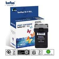 Befon черный Цвет 650XL сменный картридж для принтера для hp 650 hp 650 XL для hp Deskjet 1015 1515 2515 2545 2645 3515 4645 принтер