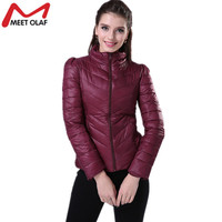 2017 Women Ultralight Parka Cotton Padded Jackets and Coats Stand Collar Short Overcoat casaco feminino abrigos invierno YL556