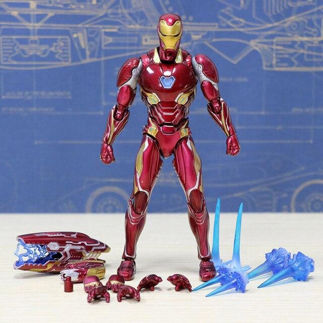 Os Vingadores Infinito Guerra Homem De Ferro MK47/MK46/MK50 Hulk PVC Modelo Figura de Ação Homem De Ferro Brinquedos Colecionáveis modelo Brinquedos Para Crianças