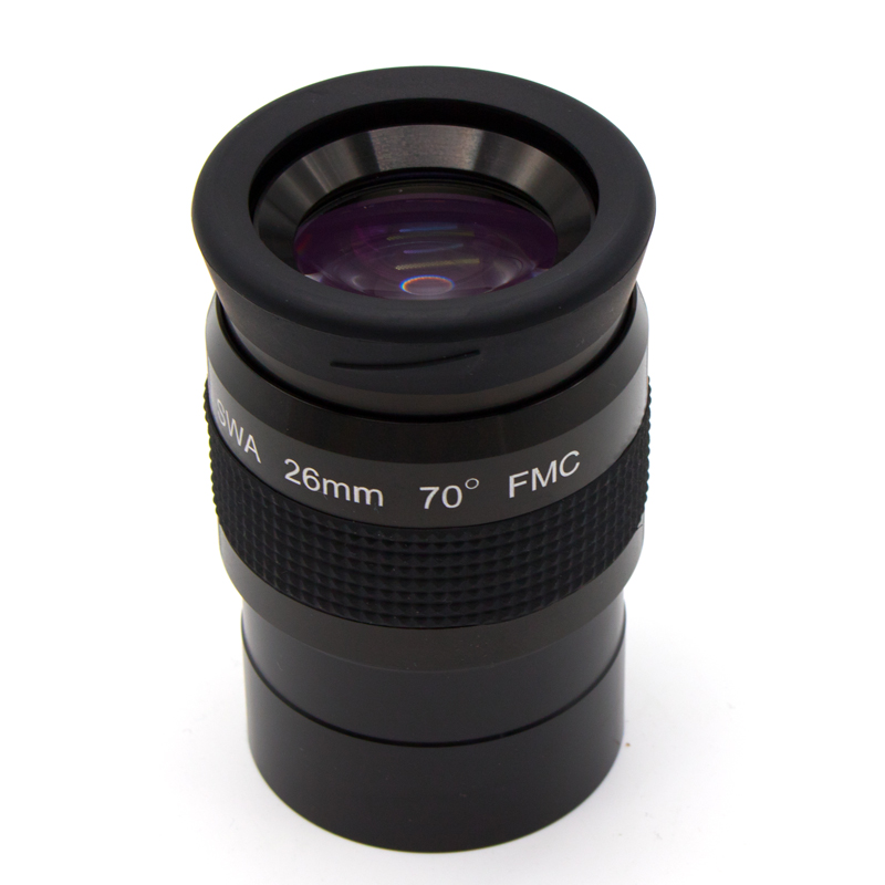 2.0 Inch Super Wide Angle 70 Degree 26mm Telescope Eyepieces For Astronomical Telescope 5 Elements Fully Coated High-index Glass