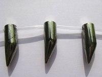 2 pasemka Naturalne Surowe piryt kryształowej strzałka kolce róg shark learf piryt żelaza piryt złota naszyjnik 15-30mm