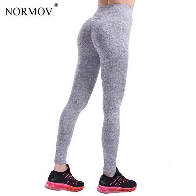 NORMOV S-XL 3 Colors Casual Push Up Leggings Women Summer Workout Polyester Jeggings Breathable Slim Leggings Women 5