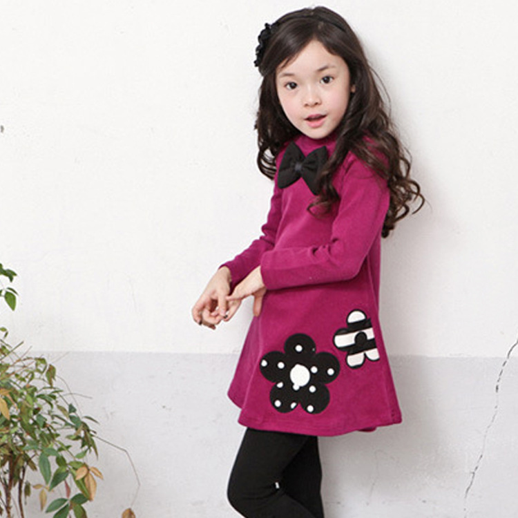 748f47e68e5b ViGarBear Baby girls dress New Fashion not falling velvet girl dress ...