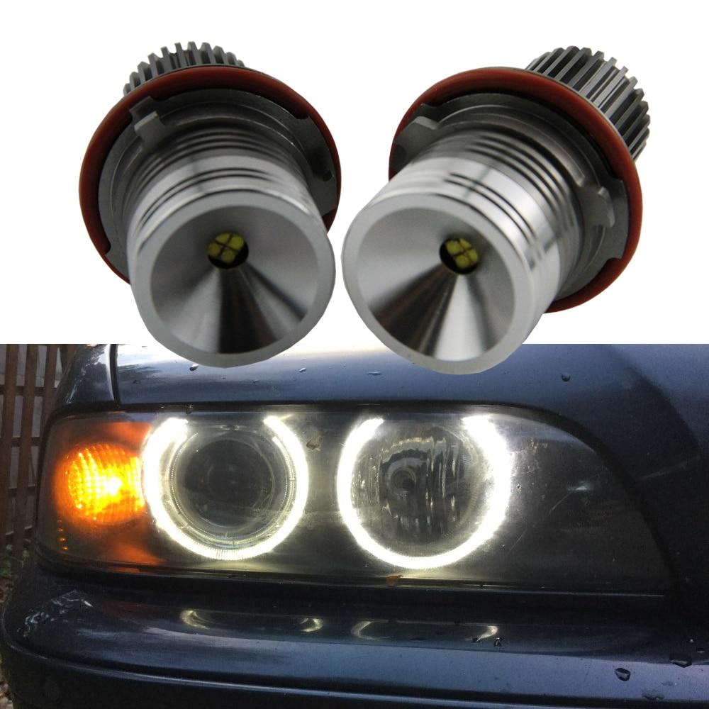 2400LM Lumineux LED Marqueur 2*20 W 40 W 1 Set CREE LED Puces Ange Yeux Halo anneau kit Blanc pour BMW E65 E87 E39 E53 E63 E64 E60 E61