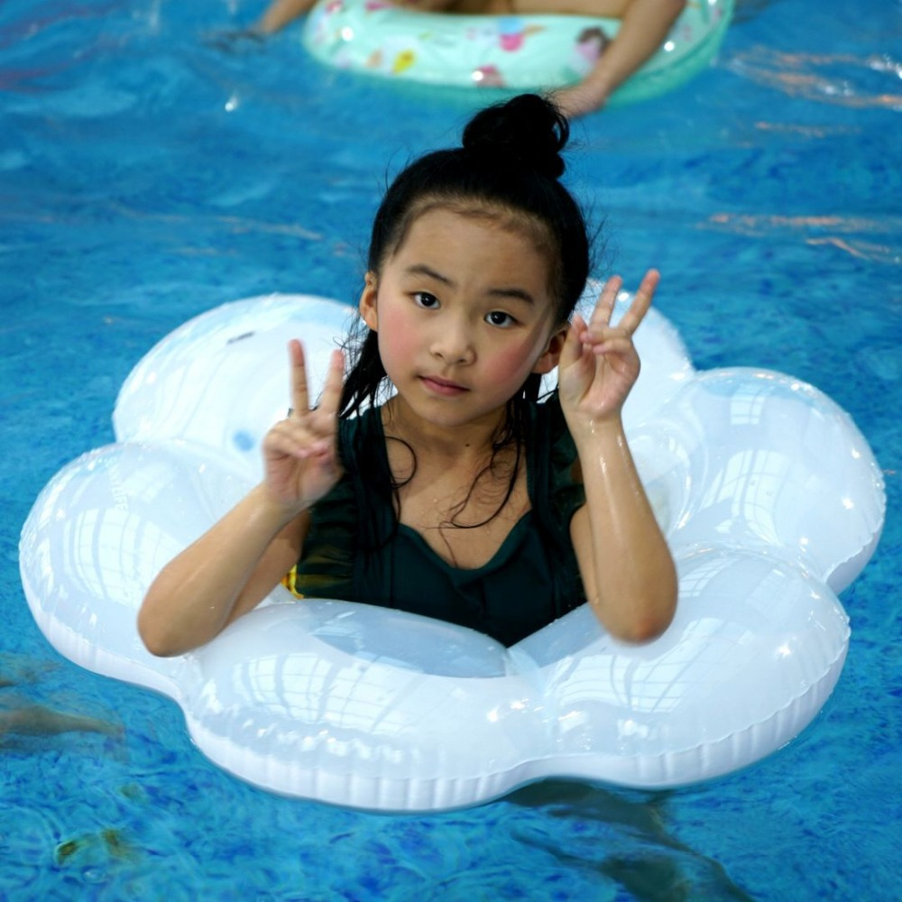 WYNLZQ Baby Kids Inflatable Circle With Cushions Aid Cute Patterns Pool Float Swim Rings Cloud Baby Kids' Floats Sport Outdoor