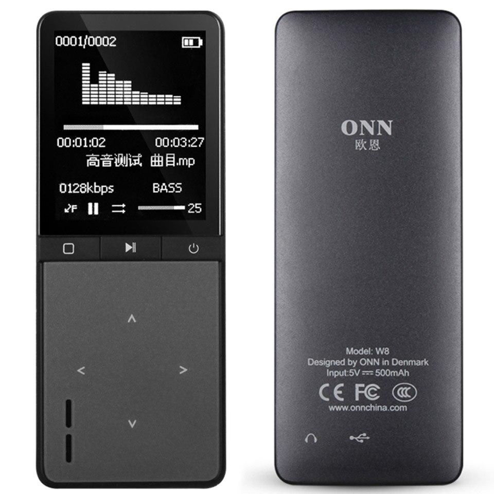 2016 Новинка Bluetooth Спорт MP3-плееры Портативный аудио 8 ГБ с Встроенный динамик FM Радио шагомер ape flac музыкальный плеер ONN w8