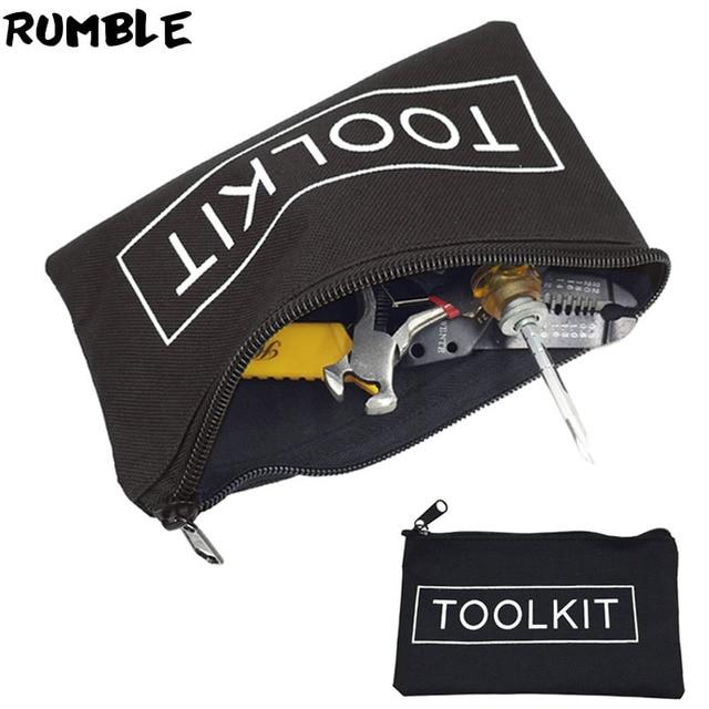 Mini Tool Kit 600D Oxford Cloth Tool Bag Storage Instrument Case Mini Size Convenient Hand Tool Bag Portable Tool Pocket