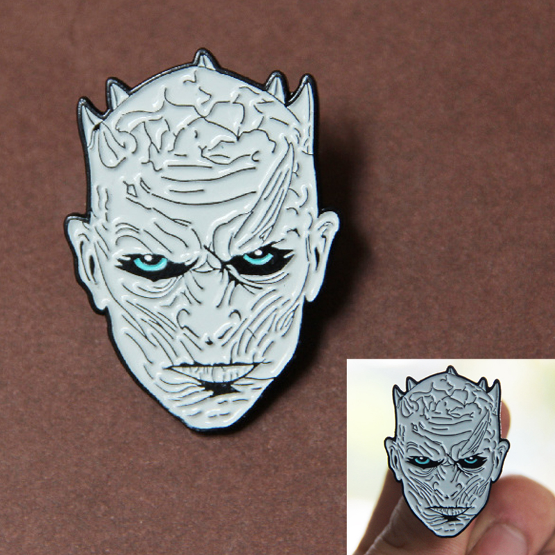 Night's King Enamel Broochs Cosplay Props Alloy Badge House Of Stark Unisex Adult Kids Game Of Thrones Accessories