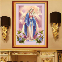 5D Diamond Painting Character Virgin Mary Full Diamond Square Drill Cross Stitch Christian Religious Portraits