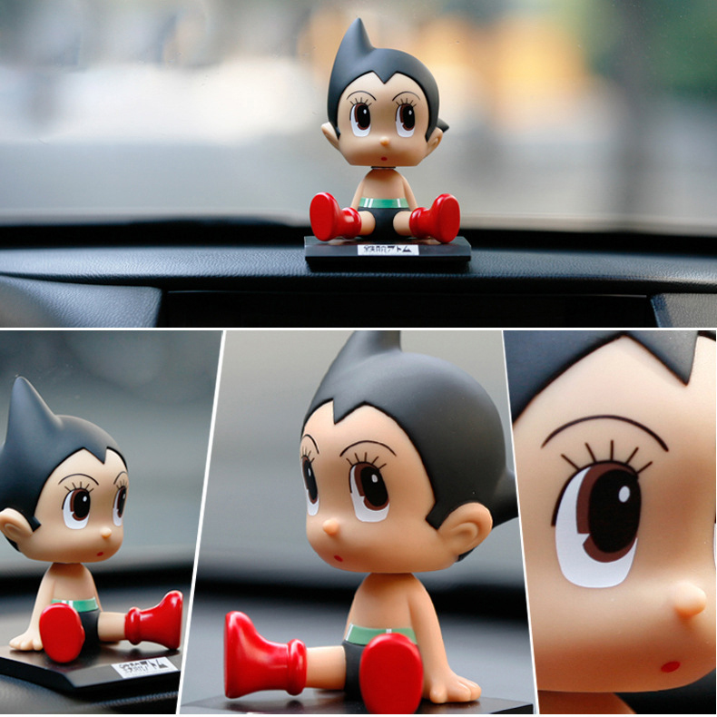 Anime Cartoon Astro Boy Verrückte Wobbler Auto Dekorationen PVC Zahlen Dolls Spielzeug 12 CM KT3778