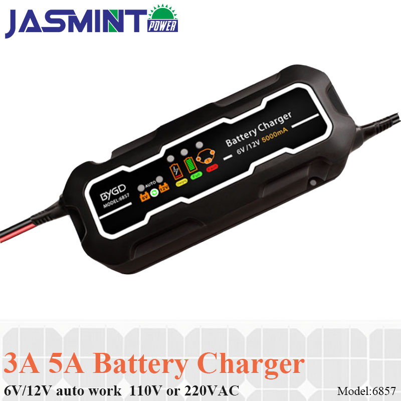 Smart Car Portable Quick Battery Charger 12V/6V 5A Motorcycle Lead Acid Batteries
