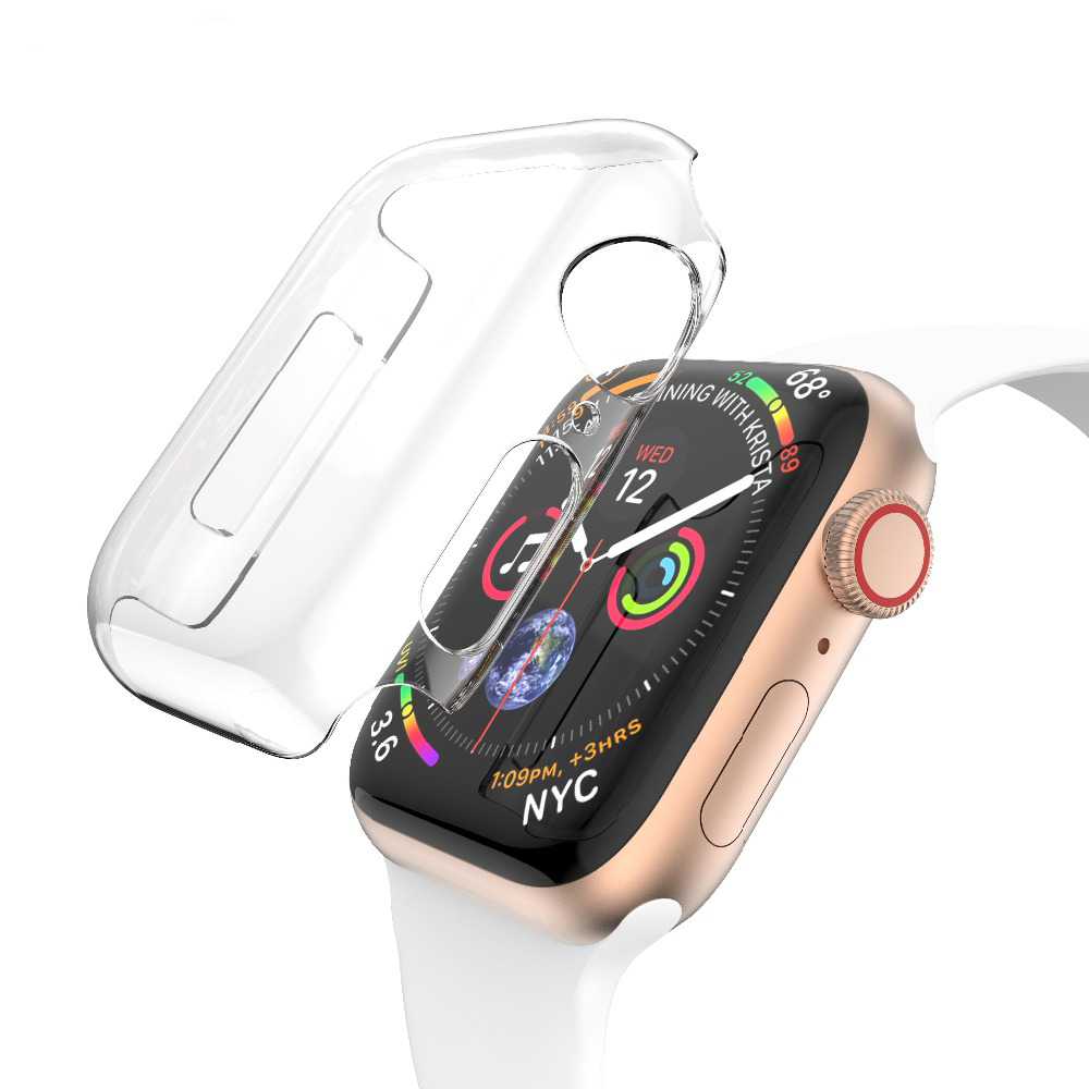 Bumper For Apple Watch Case Apple Wacth 4 3 Iwatch 42mm 38mm 44mm 40mm Accessories 360 Clear TPU Screen Protector Cover Full