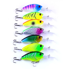 hot sale 50pcs 90mm Crank Hard baits Fishing lures plastic tackle Minnow 9CM 11.2G 6# deep diving crank bait