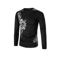2017 New Autumn And Winter Tattoo Pattern Chinese Wind Print Men S Dragon Long Sleeved T