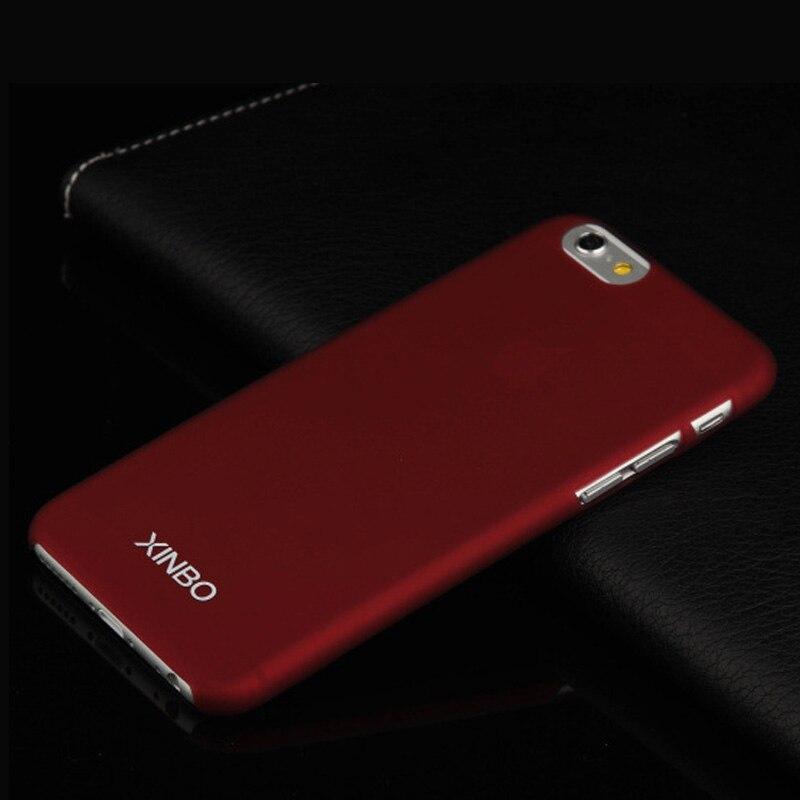 Case para iphone 6 plus xinbo 0.8mm delgada de plástico superficie soomth cubier