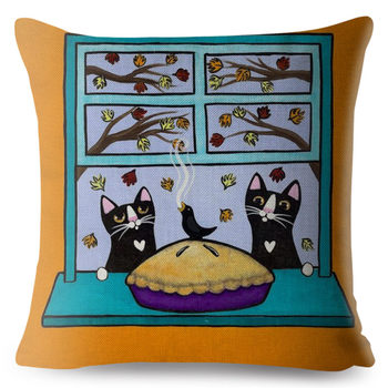 Cartoon Cats Cushion Cover