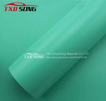 Free shipping Tiffany blue matt vinyl film with air free bubbles 1.52*30m/Lot with strong stretchable