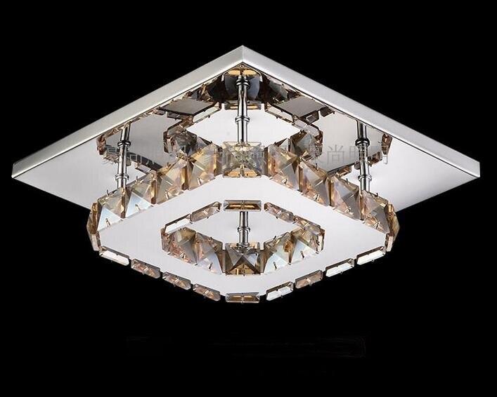 Квадратный коридор крыльцо свет лампы светодиодный Кристалл Потолочный светильник балкон кухня ванная комната дома потолочный светильник...
