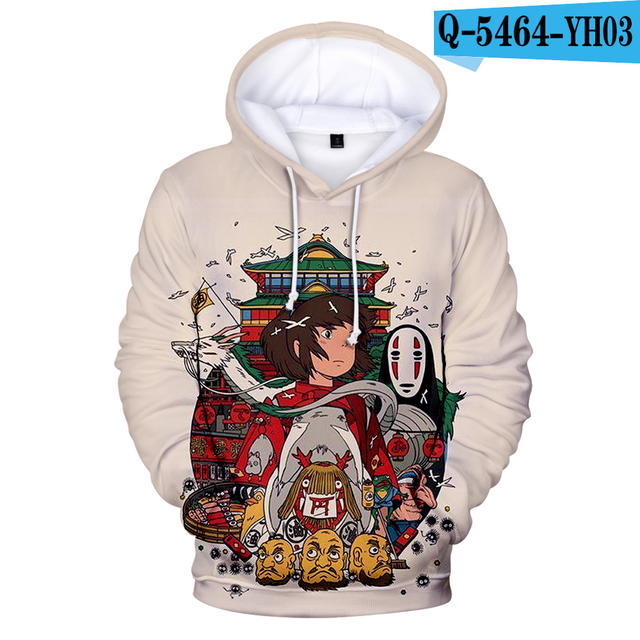 Spirited Away Hoodies Mens Hoodie Sweatshirt Men Women Anime A