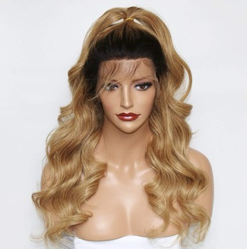 Eversilky miód włosy ludzkie w kolorze blond 360 peruki Ombre koronkowa peruka na przód 1B 27 360 peruki typu lace front luźna falista perka na siateczce dla czarnych kobiet tanie i dobre opinie Średnia wielkość Brazylijski włosy Średni brąz Nie remy włosy Ciemniejszy kolor tylko Luźne fale Francuski koronki