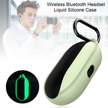 Buy Liquid Silicone Protective Cover Non-Dust Night Light Protect Case with Hook for Samsung Galaxy Buds Wireless Bluetooth Headset directly from merchant!