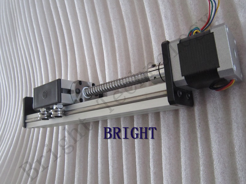 Ballscrew 1605 300mm Travel Length Linear Guide Rail CNC Stage Linear Motion Moulde Linear + 57 Nema 23 Stepper Motor SG belt driven guided linear actuator any travel length linear motion motorized linear stage heavy duty belt driven stage
