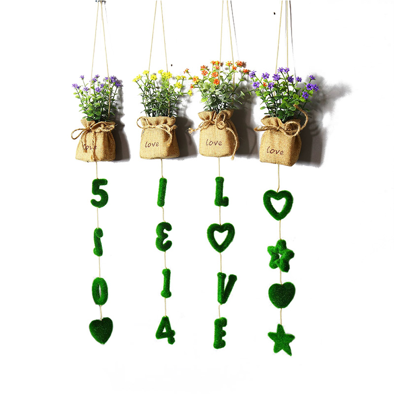 European Wall Decoration Decorative Hanging Artificial Plant Creative Nordic Office Store Home Decorations