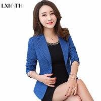 LXMSTH 4XL 5XL Long Sleeve Office Blazers For Women Casual Plus Size Suit jacket Work Slim Autumn Blazer mujer blaser feminino