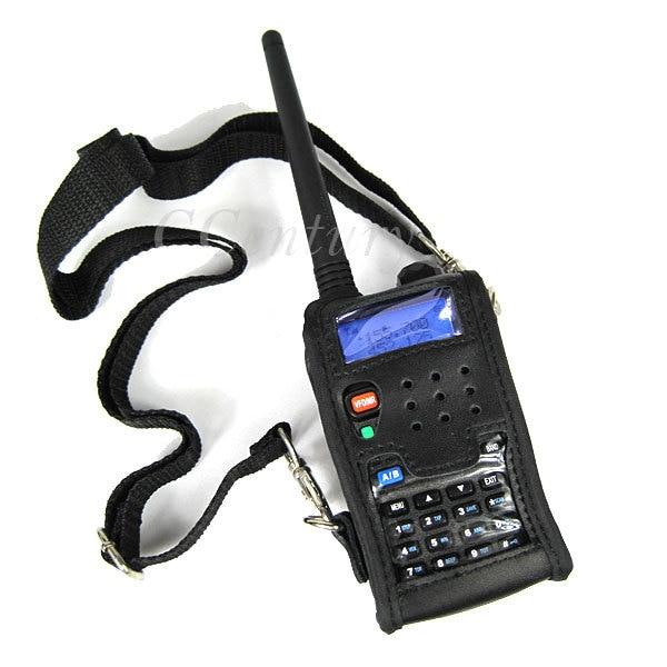 Walkie talkie couro macio caso capa para baofeng uv 5r portátil rádio presunto UV-5R UV-5RA plus UV-5RE mais UV-5RB ronson UV-8R