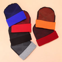 Stricken hut männer und frauen junge street dance plus tragen net kopf hip hop hut herbst winter street fashion warm hut Skullies beanies(China)