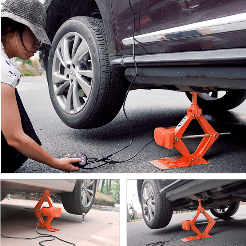 Electric Jack 3 Tons All In One Auto Lift Scissor Jack Car Tire Repair Tool For Electric Scissor Car Jack For Sedan Suv Lifting
