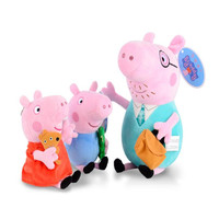 19 30 CM Original Peppa Pig George Dad Mom Family Set Pelucia Stuffed Dolls Plush Toys Children Birthday Gifts