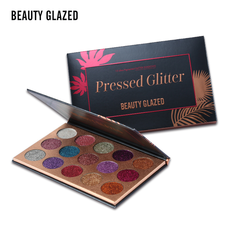 BEAUTY GLAZED Eyeshadow Palette Long-lasting Wear Make Up Eye Shadow Palette Natural Luminous Matte Shimmer 18 Color Maquiagem