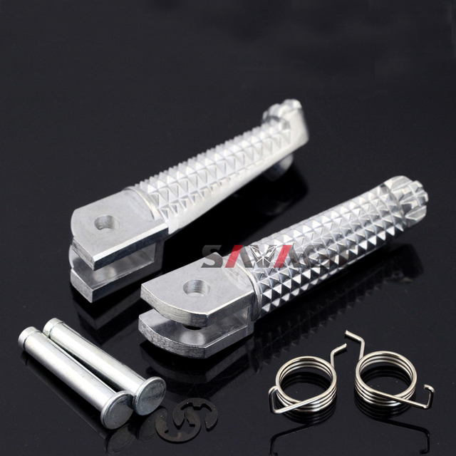 Front Footrest Foot Pegs For YAMAHA YZF R3/R25/R125 MT 03 MT 09 MT 10 FZ 09 FZ 10 FJ 09 MT03 MT09 MT10 FZ09 FZ10 YZF R3 YZF R25