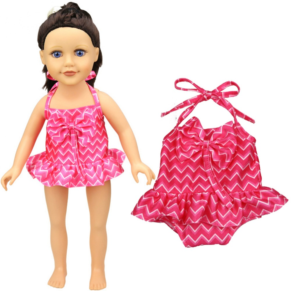Doll Rose Clothes Fits For 18 American Girl Doll Fashion SwimSuit Summer Swimwear Our Generation Doll