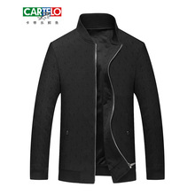 CARTELO Mens Jackets And Coats Casual Jacket Men Autumn Business Clothing Mandarin Collar Zipper Slim Fit Coat Men Dress Formal