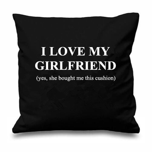 I Love My Girlfriend Quotes Mesmerizing Funny Boyfriend Gift I Love My Girlfriend Cushion Cover Novelty