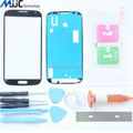 Black Front Glass Lens screen Replacement Kit for Samsung Galaxy S4 i9500 i9505 i337+Tool Glue Blade Tempered Glass