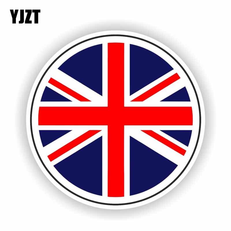 YJZT 13CM*13CM Great Britain British Flag Car Sticker Decal Motorcycle Helmet Accessories 6-1624